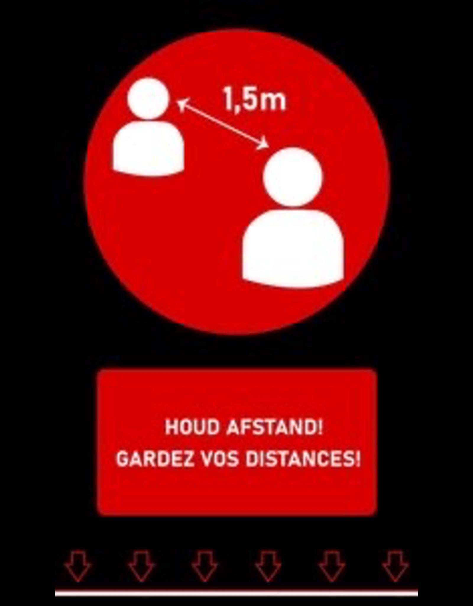Kreisy Afstandstapijt - Houd afstand! - 150 x 90 cm