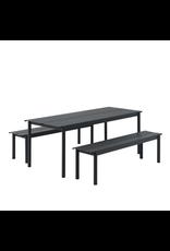 Muuto Linear Steel Table / Black / 200x75