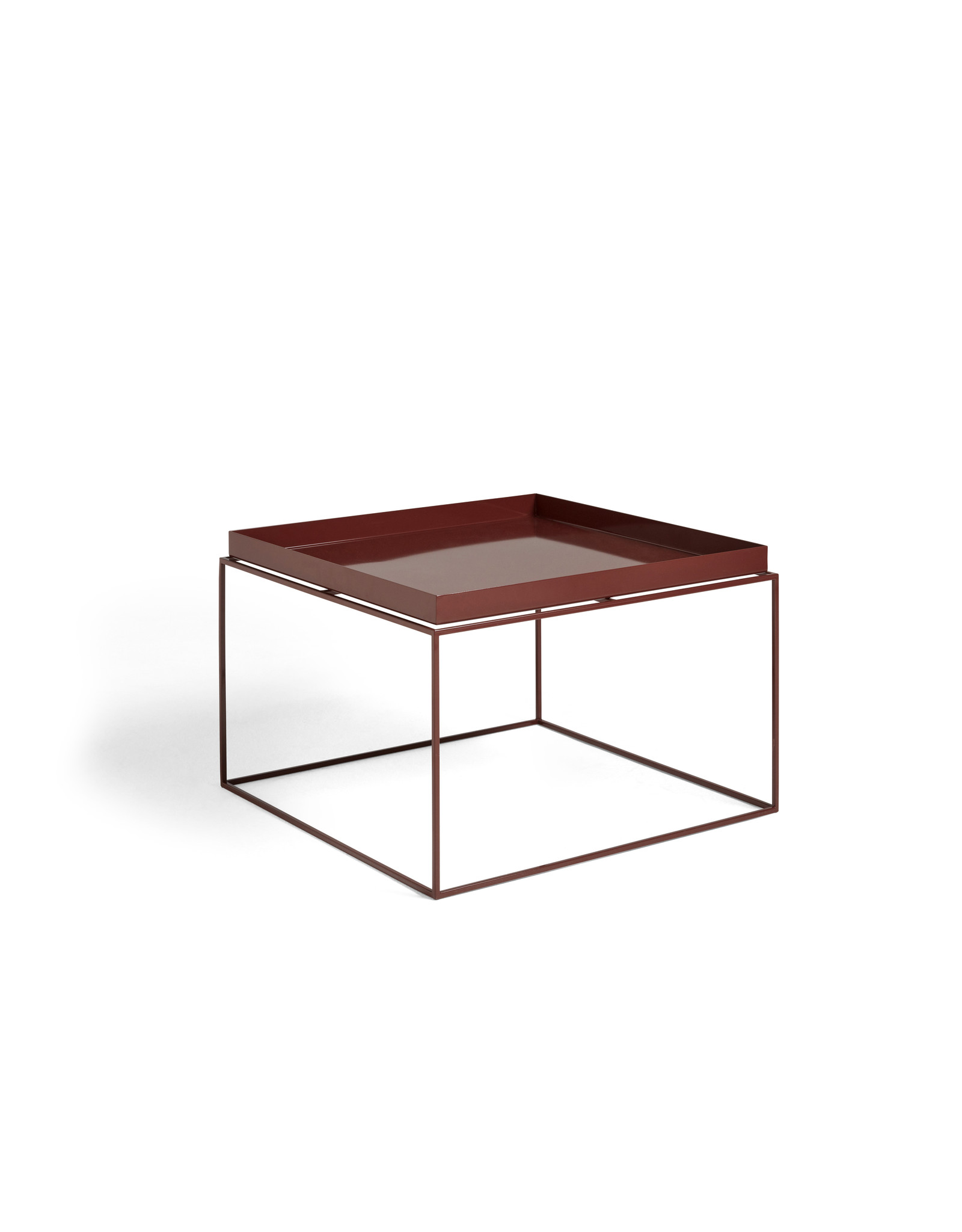 HAY TRAY TABLE / COFFEE SIDE TABLE CHOCOLATE HIGH GLOSS
