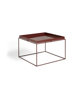 HAY TRAY TABLE / COFFEE SIDE TABLE CHOCOLATE HIGH GLOSS