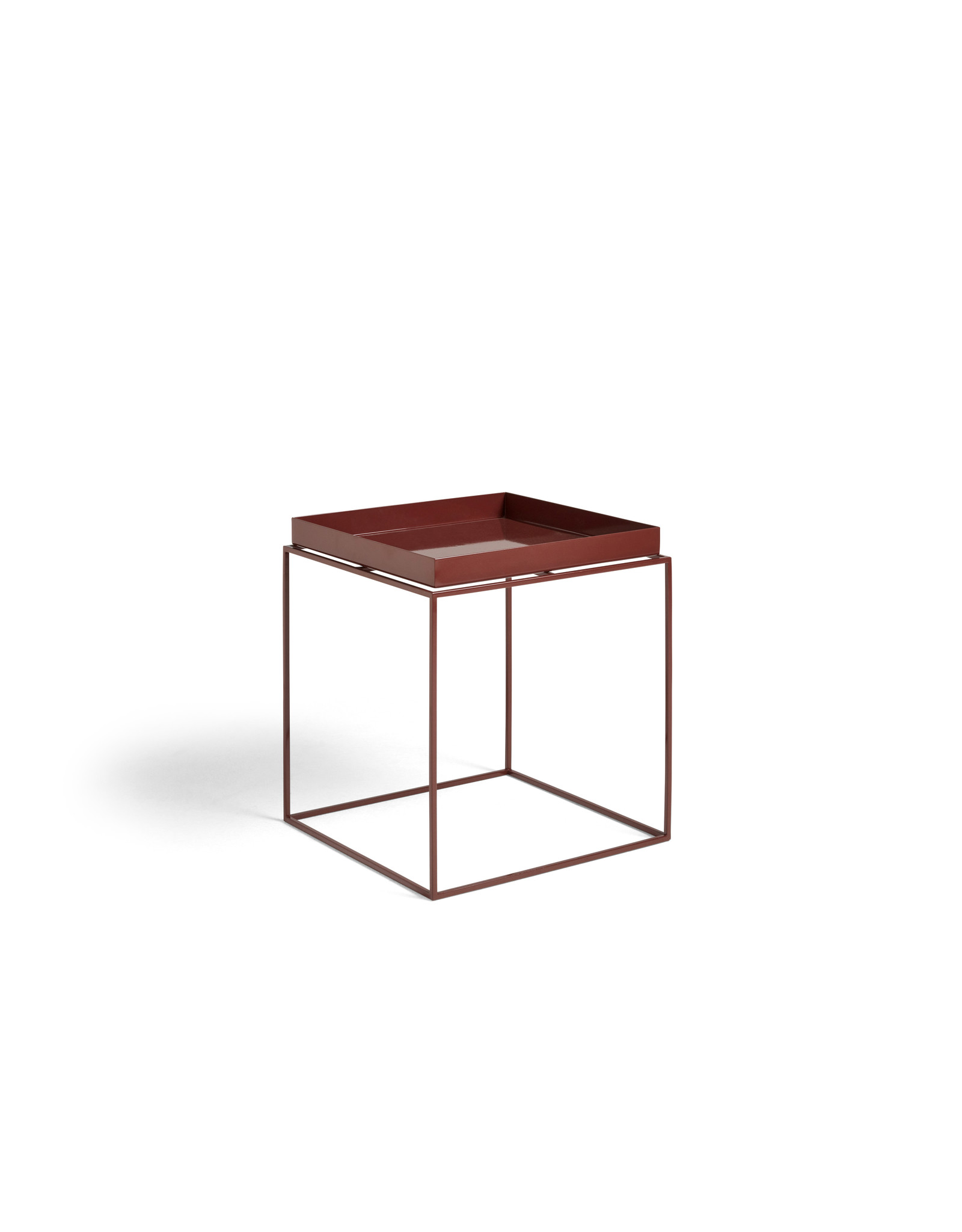 HAY TRAY TABLE / SIDE TABLE M CHOCOLATE HIGH GLOSS