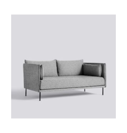 HAY SILHOUETTE SOFA 2 SEATER MONO / 2 SEATER MONO / OLAVI 03 / BLACK POWDER COATED STEEL