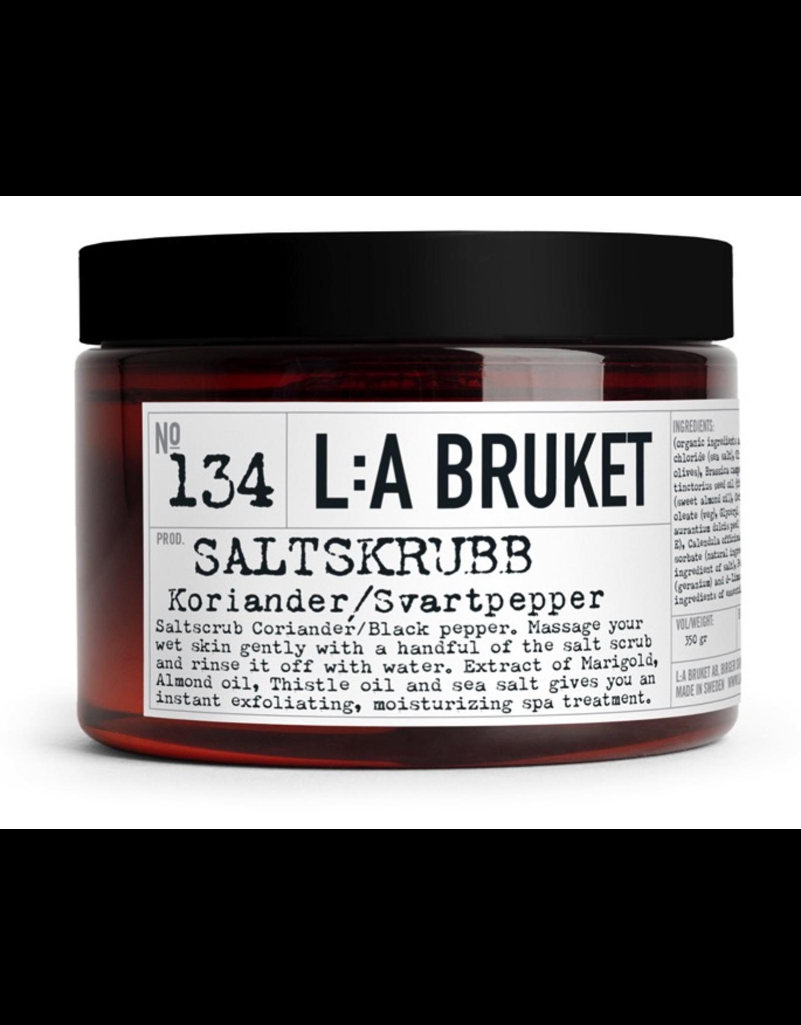 LA BRUKET N°134 Salt Scrub Coriander/Black Pepper 350Ml