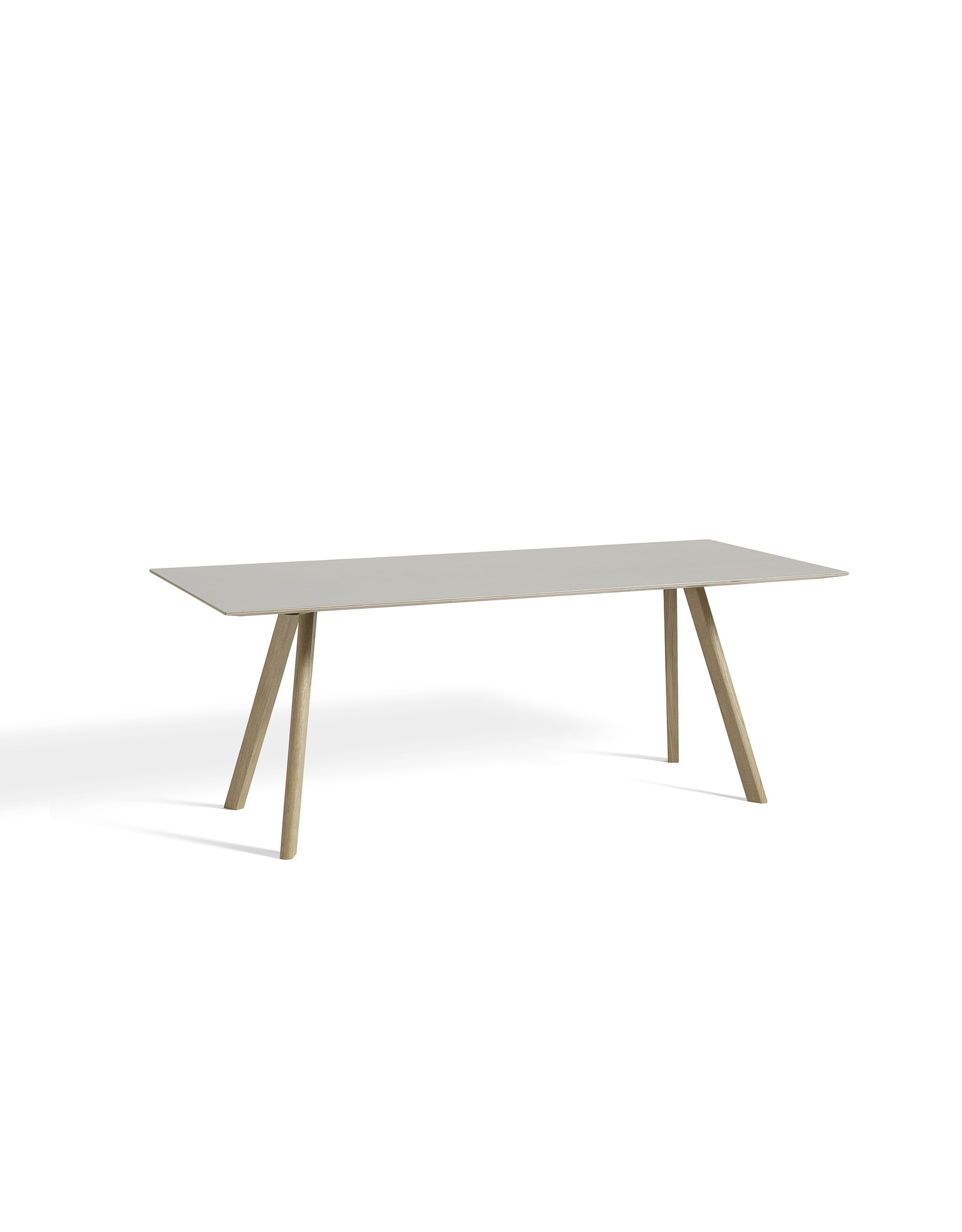 HAY CPH 30 / MATT LACQUERED SOLID OAK / OFF WHITE LINOLEUM / L250 X W90 X H74