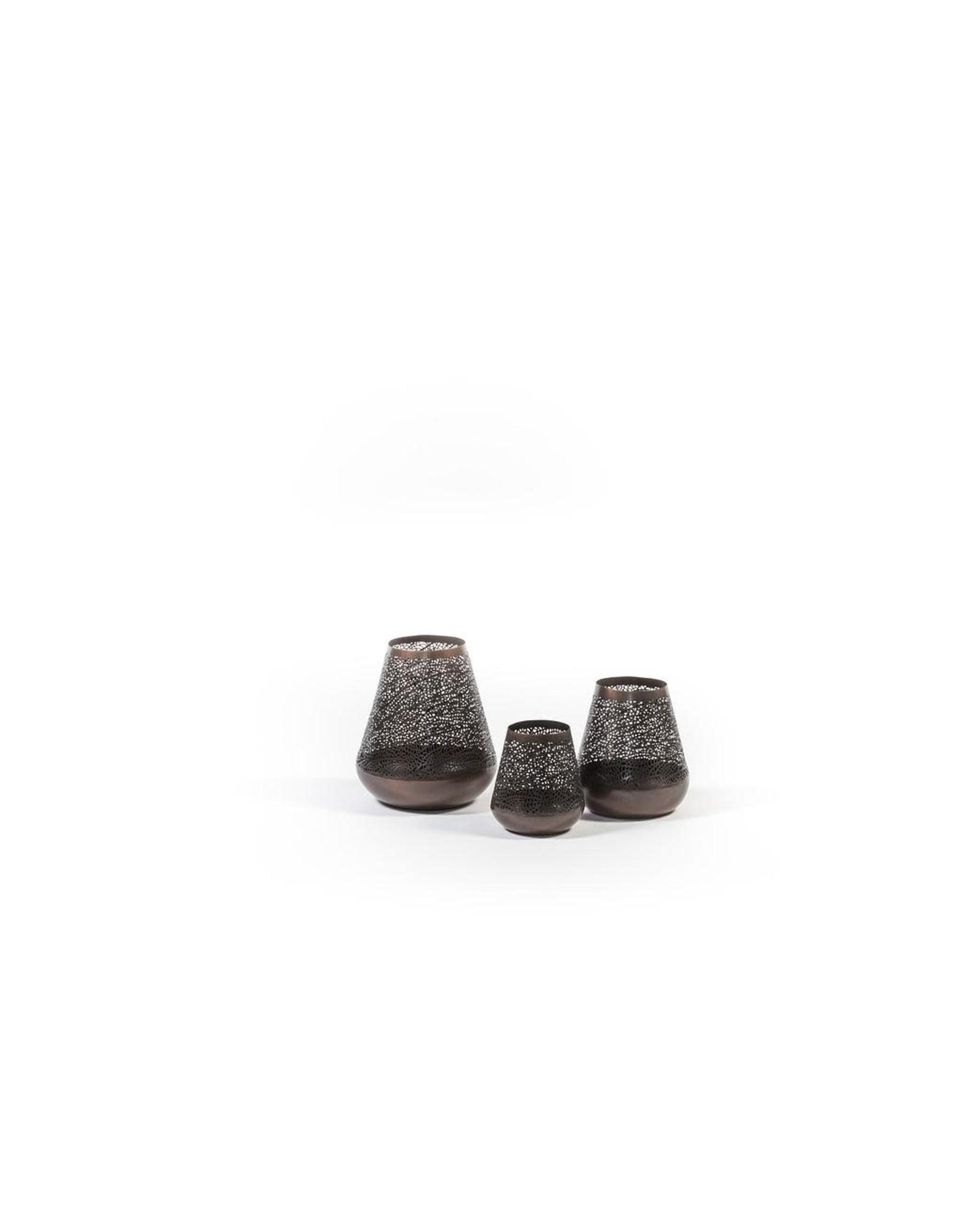 Dekocandle Antique Tlight Holder - Metal - Dark Copper - Medium
