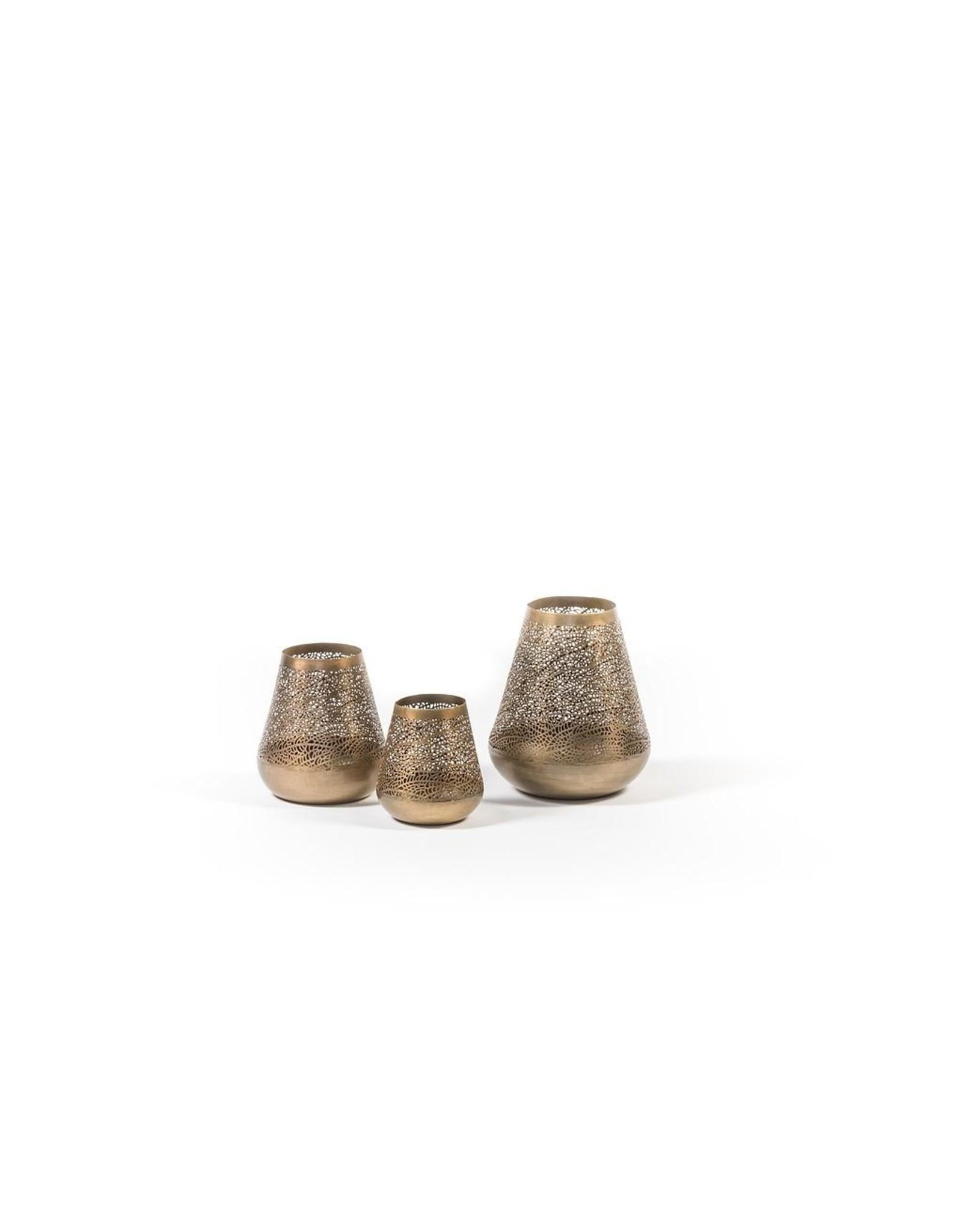 Dekocandle Antique Tlight Holder - Metal - Dark Brass - Large