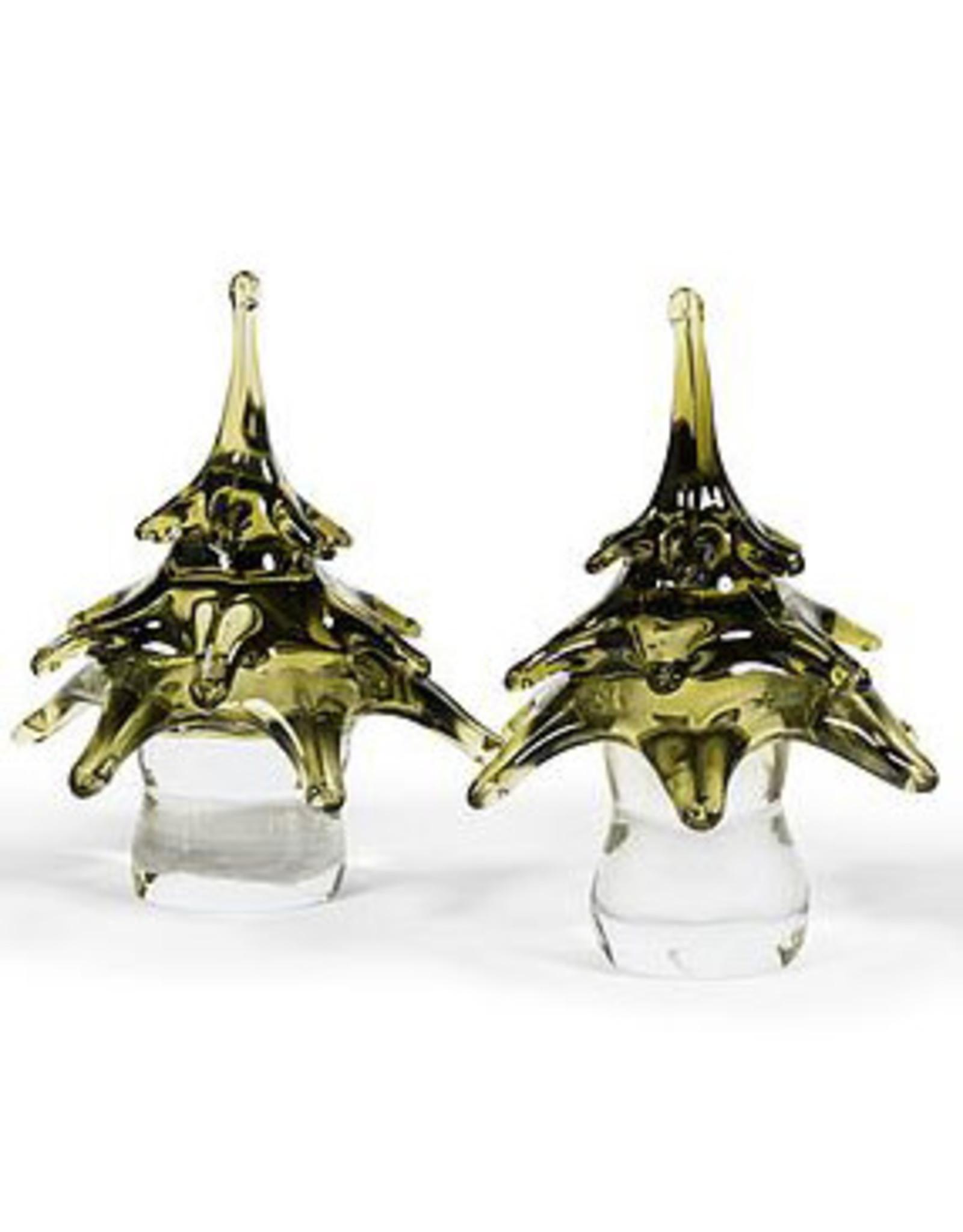 Dekocandle Xmas Tree Glass Green Medium