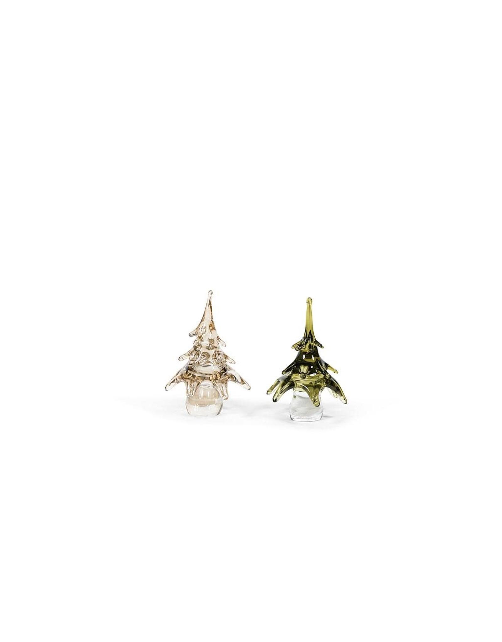 Dekocandle Xmas Tree Glass Green Small