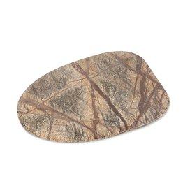 Dekocandle Plate Marble Brown Forest Medium