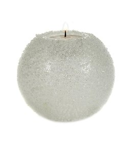 Goodwill GLSS GLT BEAD.BALL VOTIVE TT WH 10CM