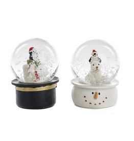 Goodwill POLAR BEAR/PENG.SNOW GLOBE TT ASS/2 WH/BLK 6,5CM
