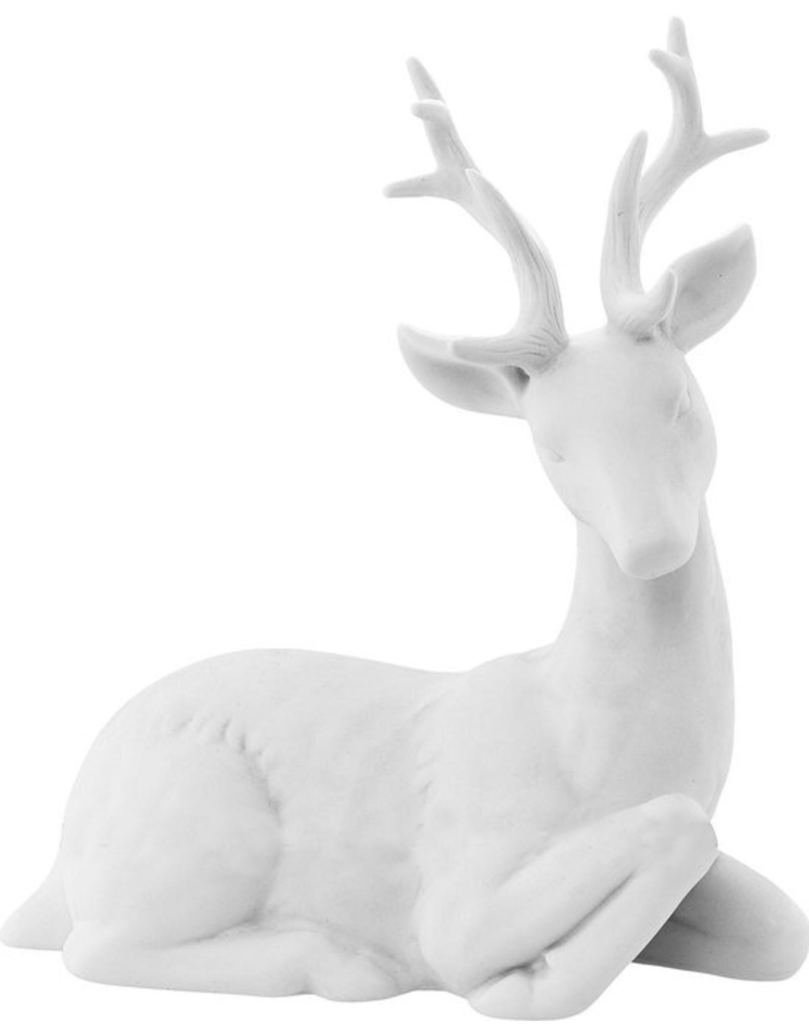 Bloomingville Reindeer white porcelain L18,8 H21,5 W8 cm
