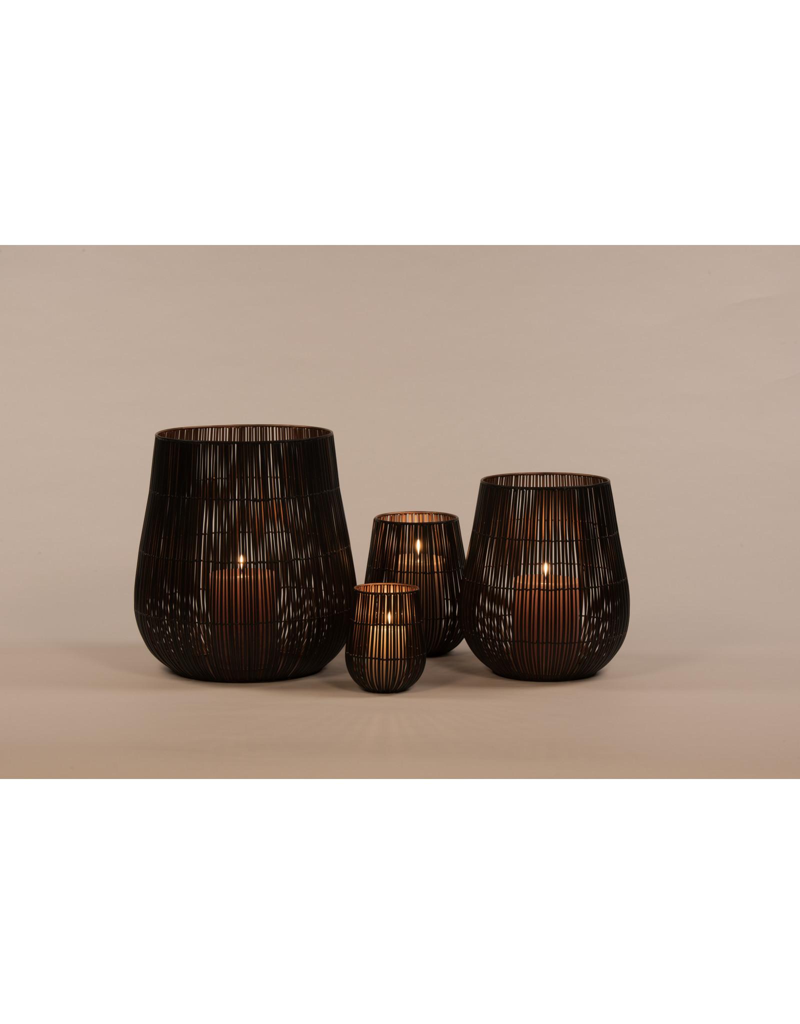 Dekocandle Pilar Holder - Metal - Black Copper - Large