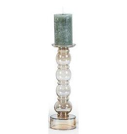 Dekocandle Chandelier - 4 Bolls - Glass Luster Oyster - 11x40cm