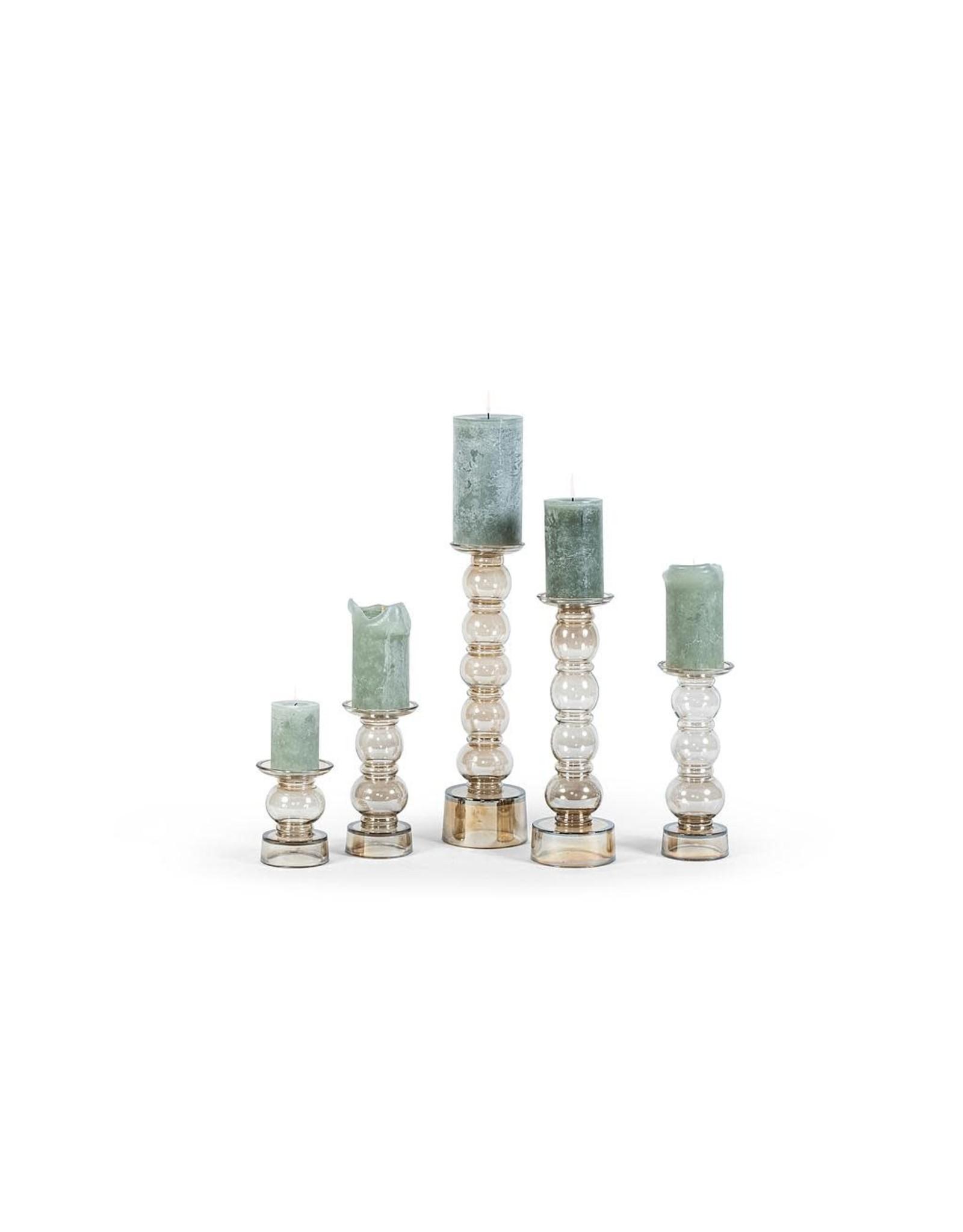 Dekocandle Chandelier - 5 Bolls - Glass Luster Oyster