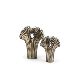 Dekocandle Vase Ginkgo - Metal - Brass Antique - Large