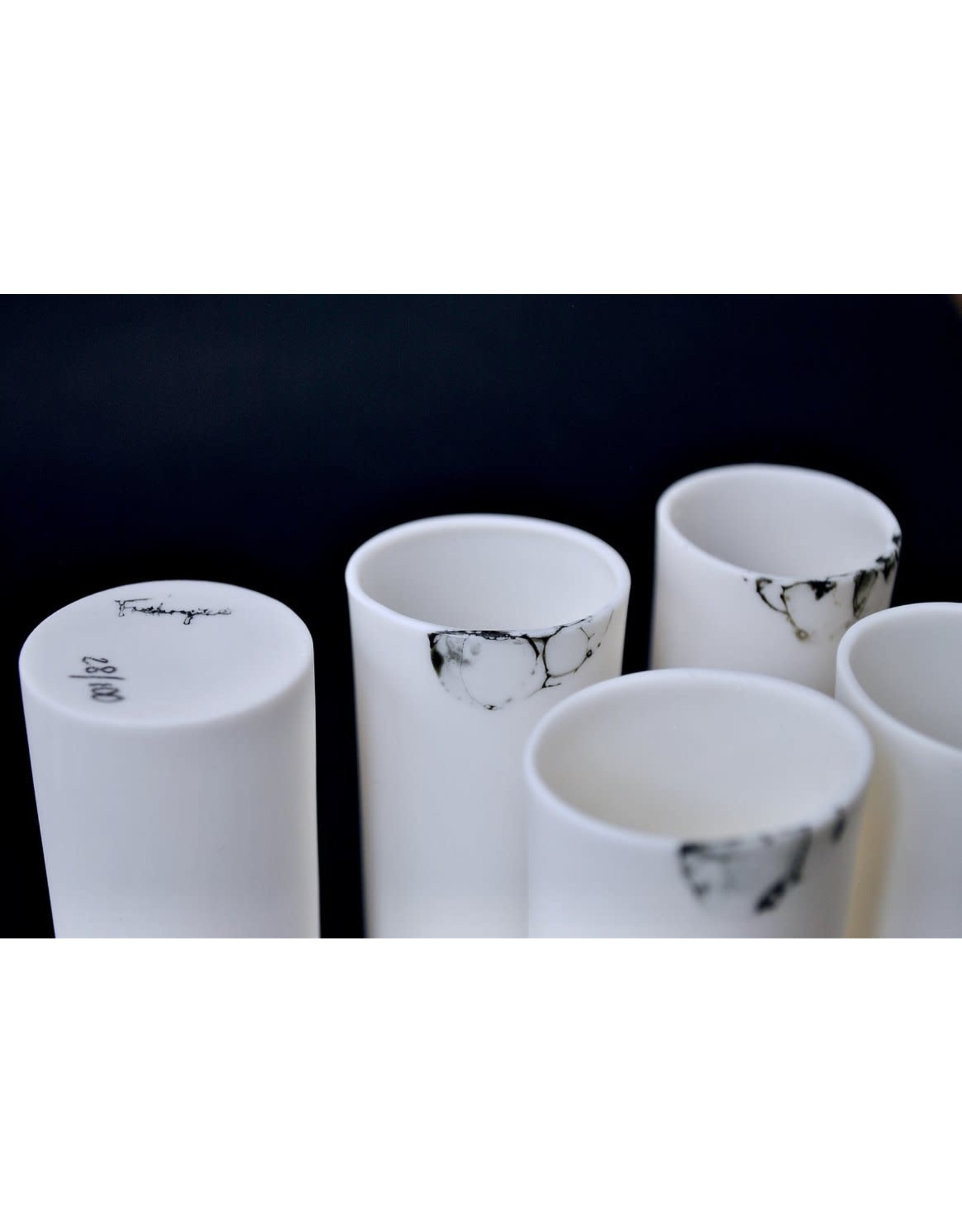 Porcelain Art Studio Bonny Mat Borrelglas