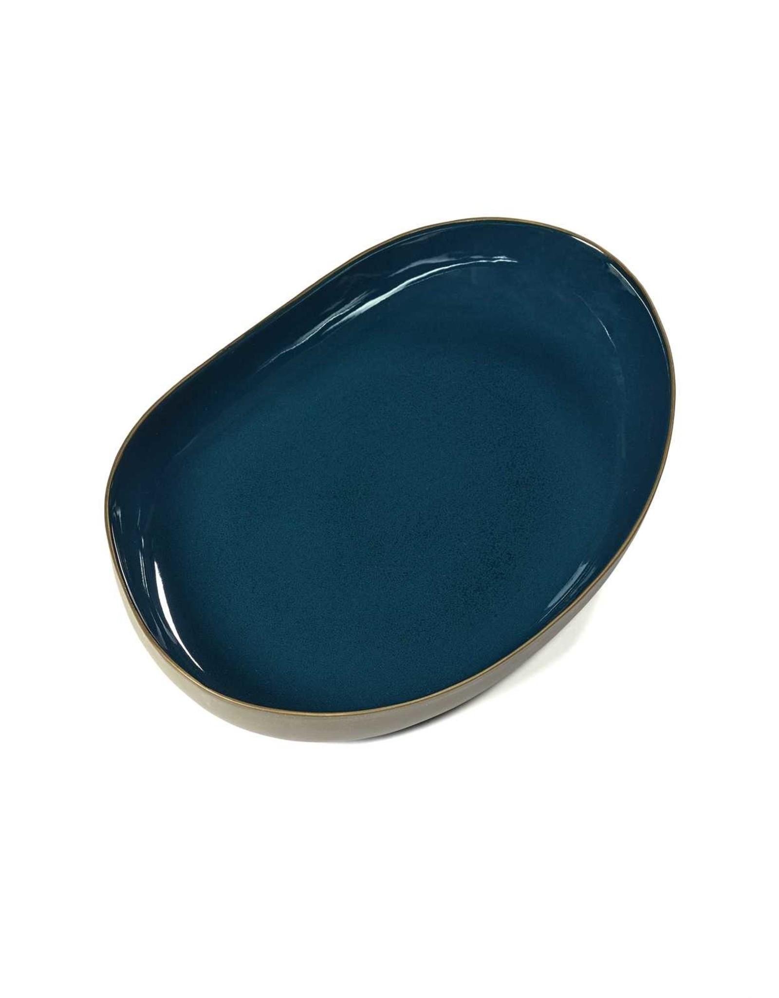 Serax NV Serveerkom RUR:AL L38 x B26 x H4.5cm blauw