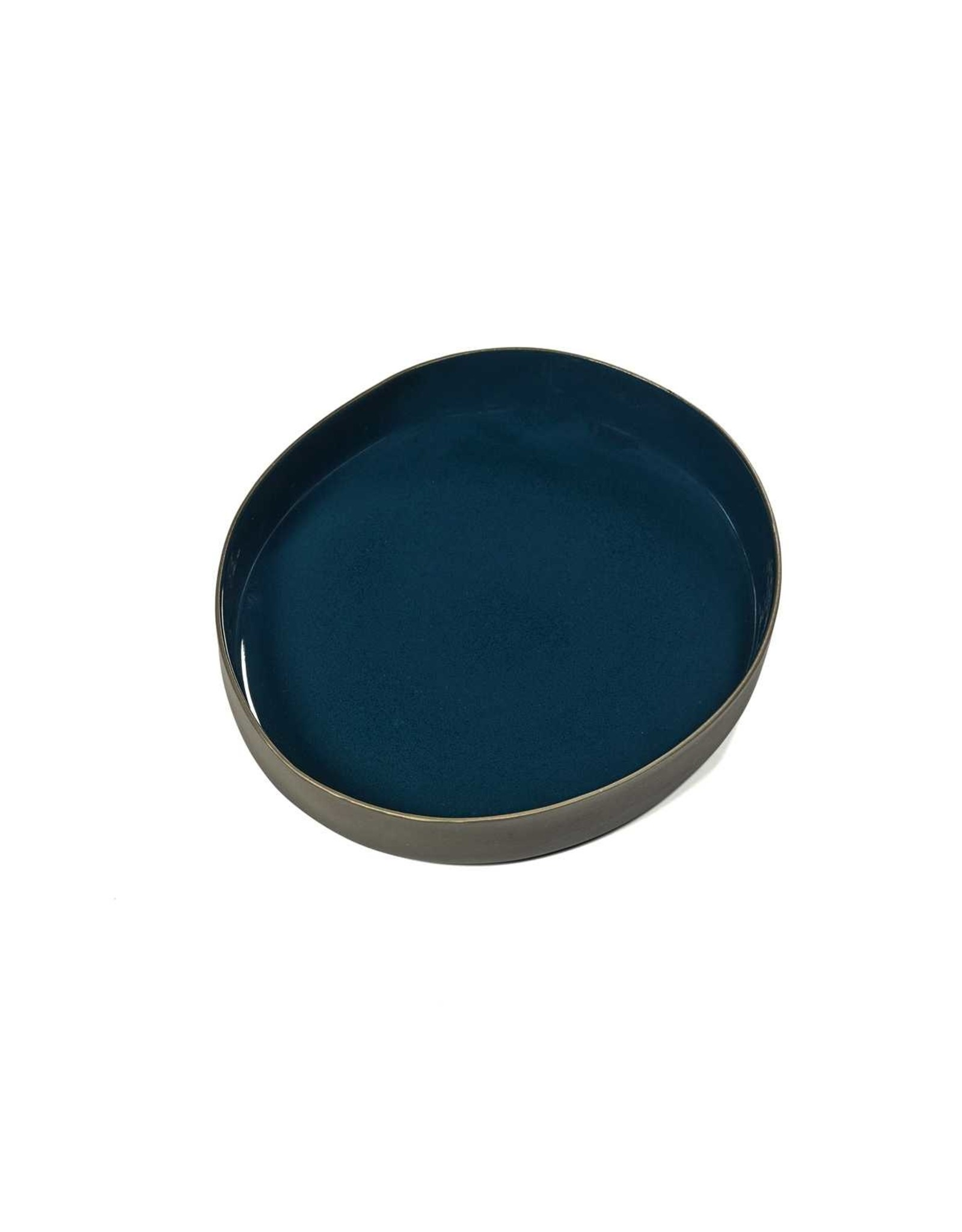 Serax NV Serveerkom RUR:AL L29 x B25 x H4cm blauw