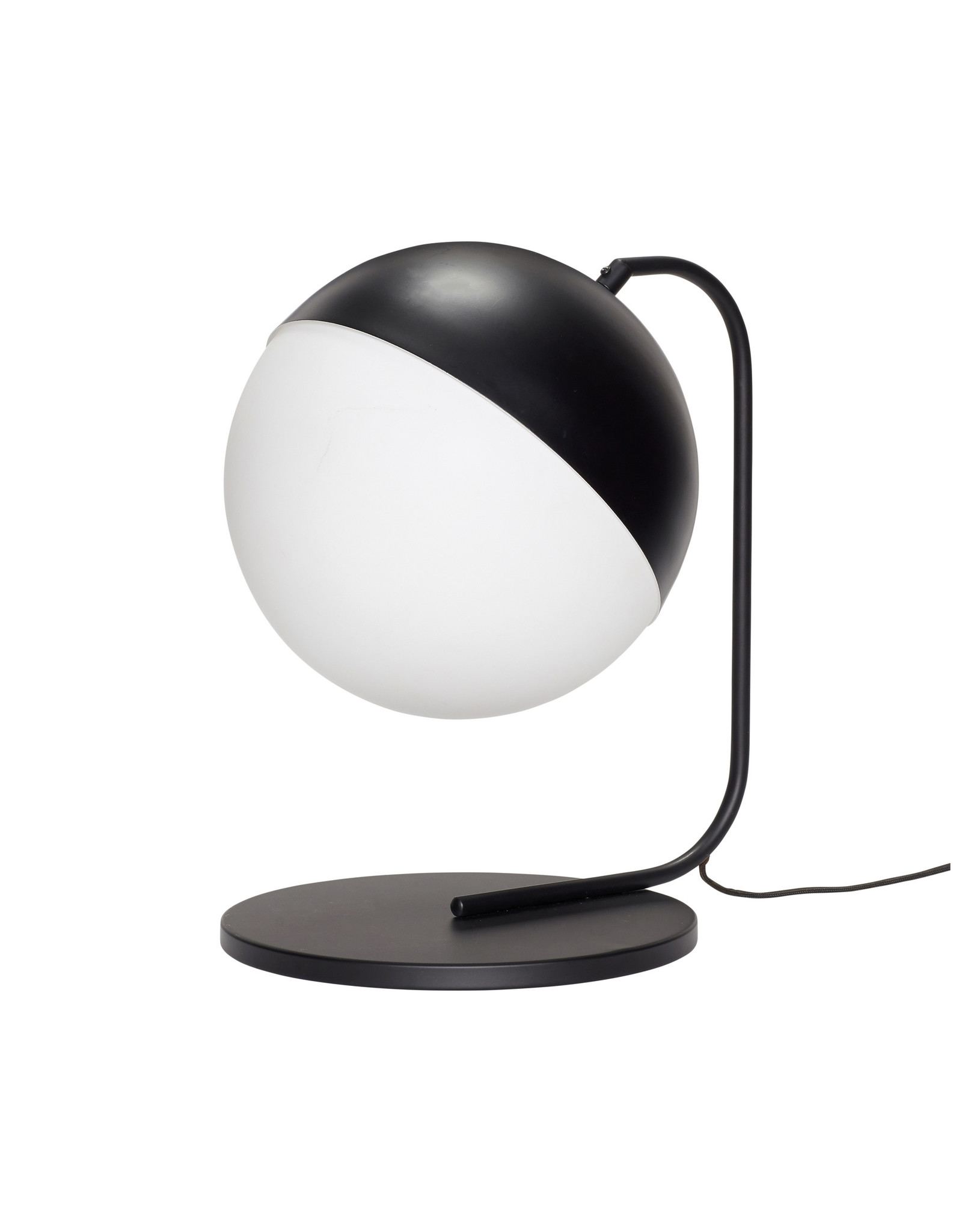 Hubsch A/S Table Lamp, Metal Black/White
