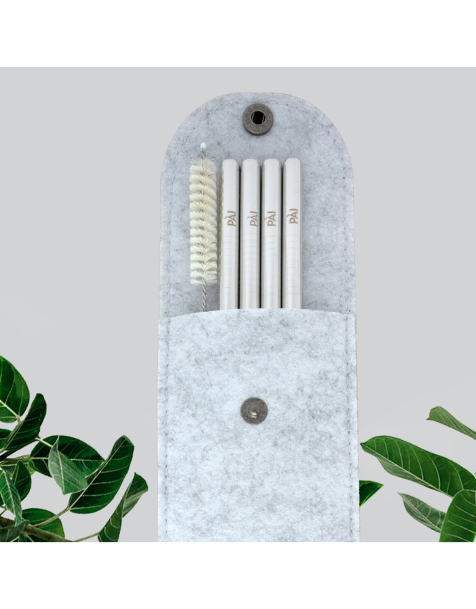 Pài Reusables Silver Straight 4 pack