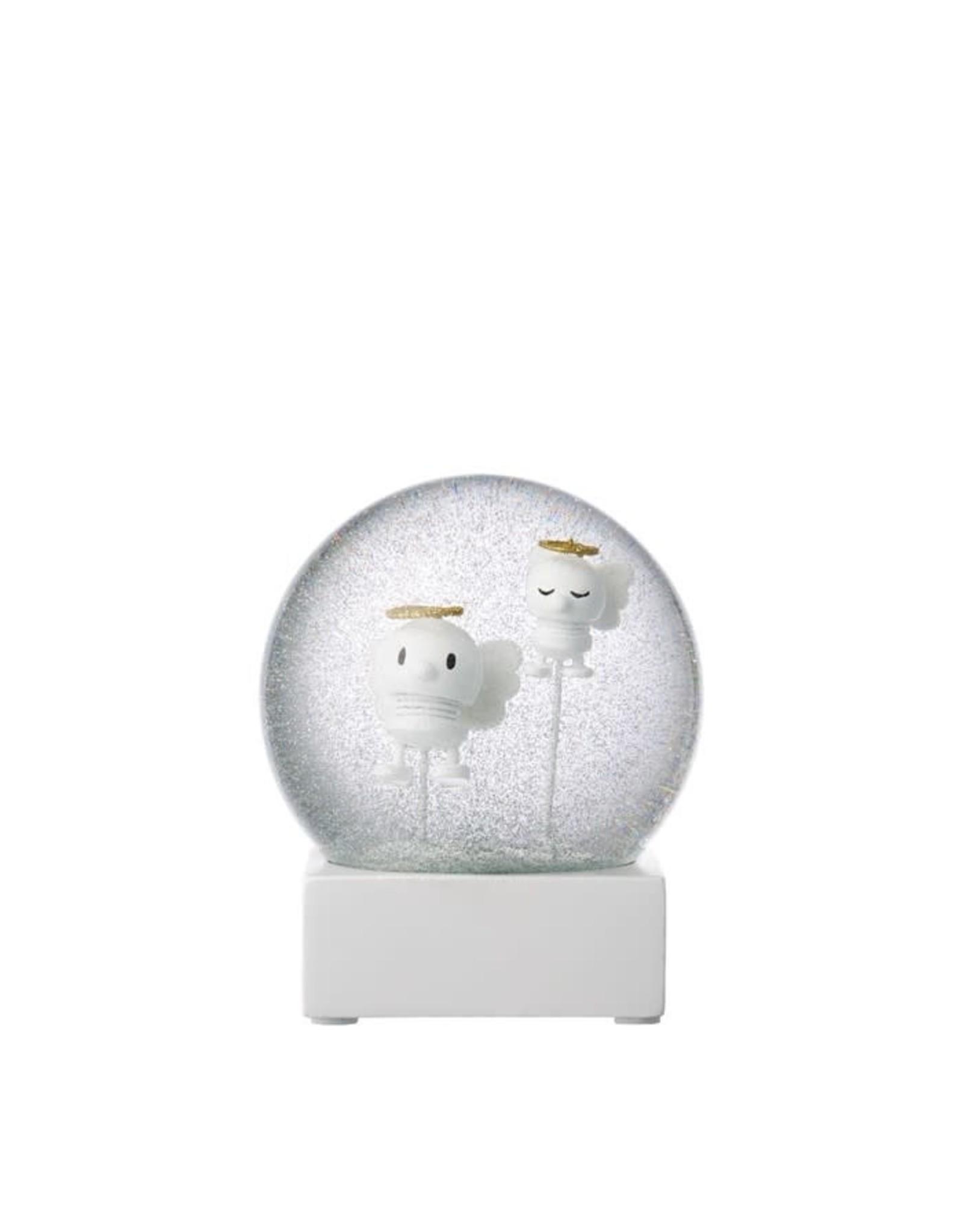 Hoptimist White Angel Snow Globe