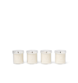 FERM LIVING Scented Advent Candles Set of 4 White