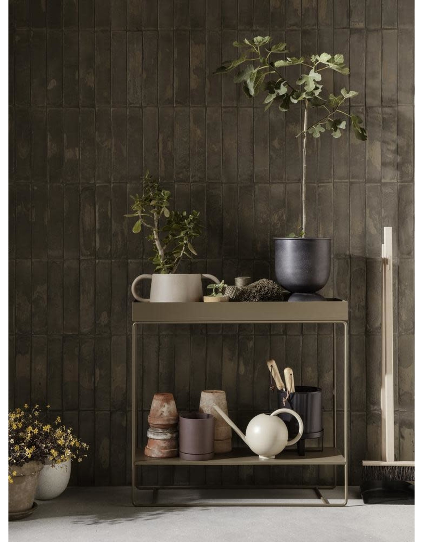 FERM LIVING Plant Box Two-Tier - Olive