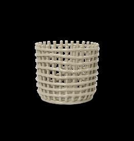 FERM LIVING Ceramic Basket - Large - Cashmere