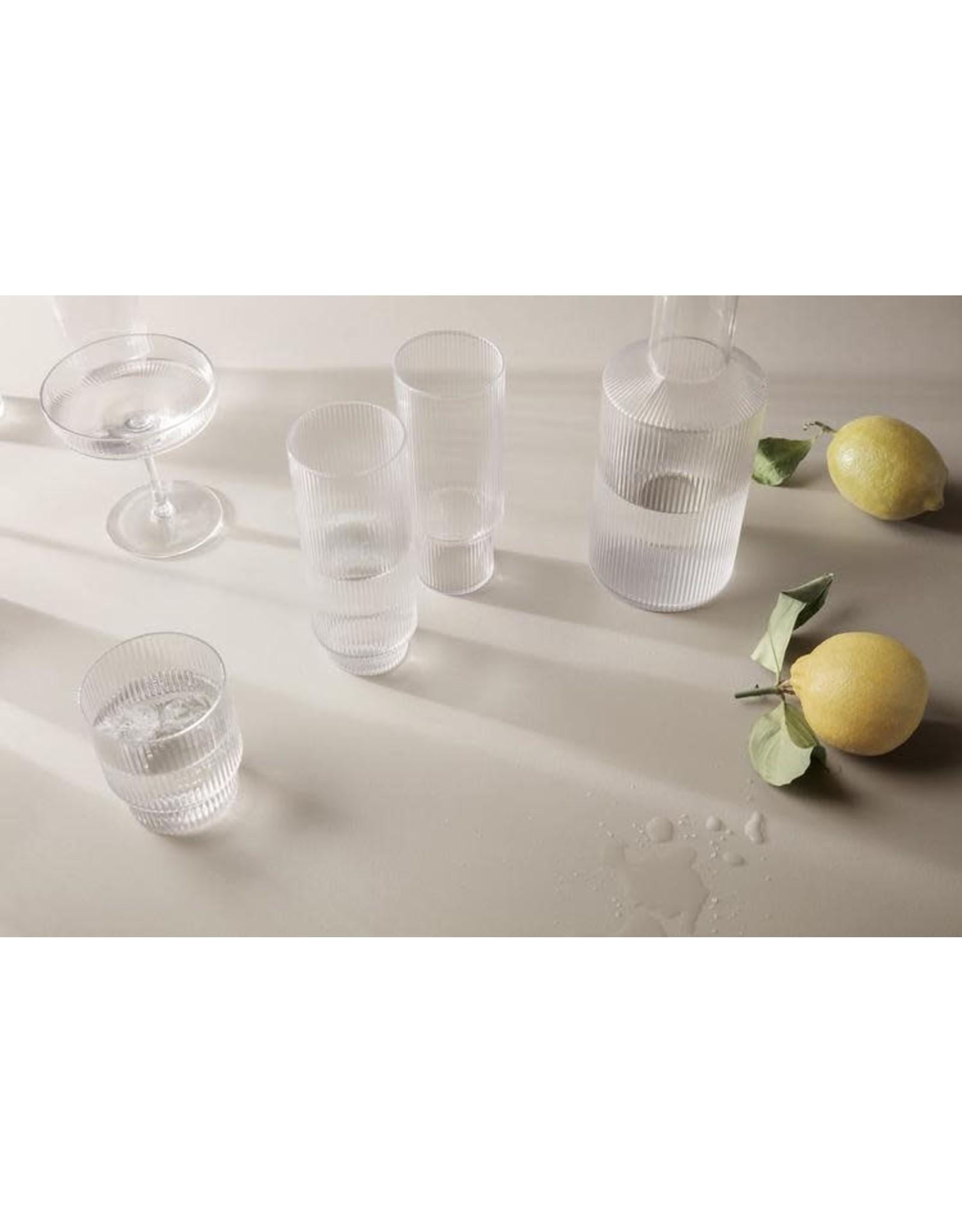 FERM LIVING Ripple Glasses (Set of 4) Clear