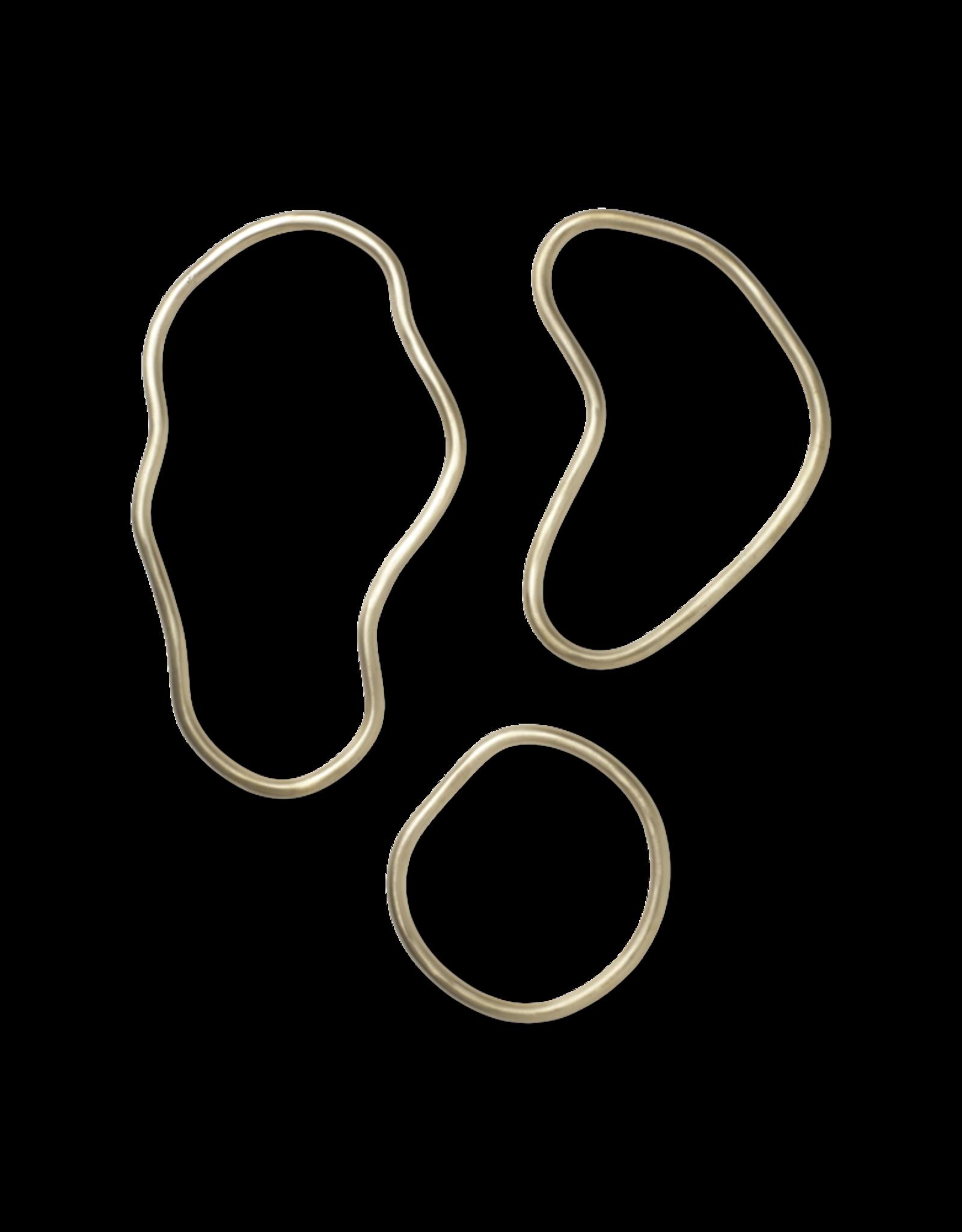 FERM LIVING Pond Trivets - Set of 3 Brass