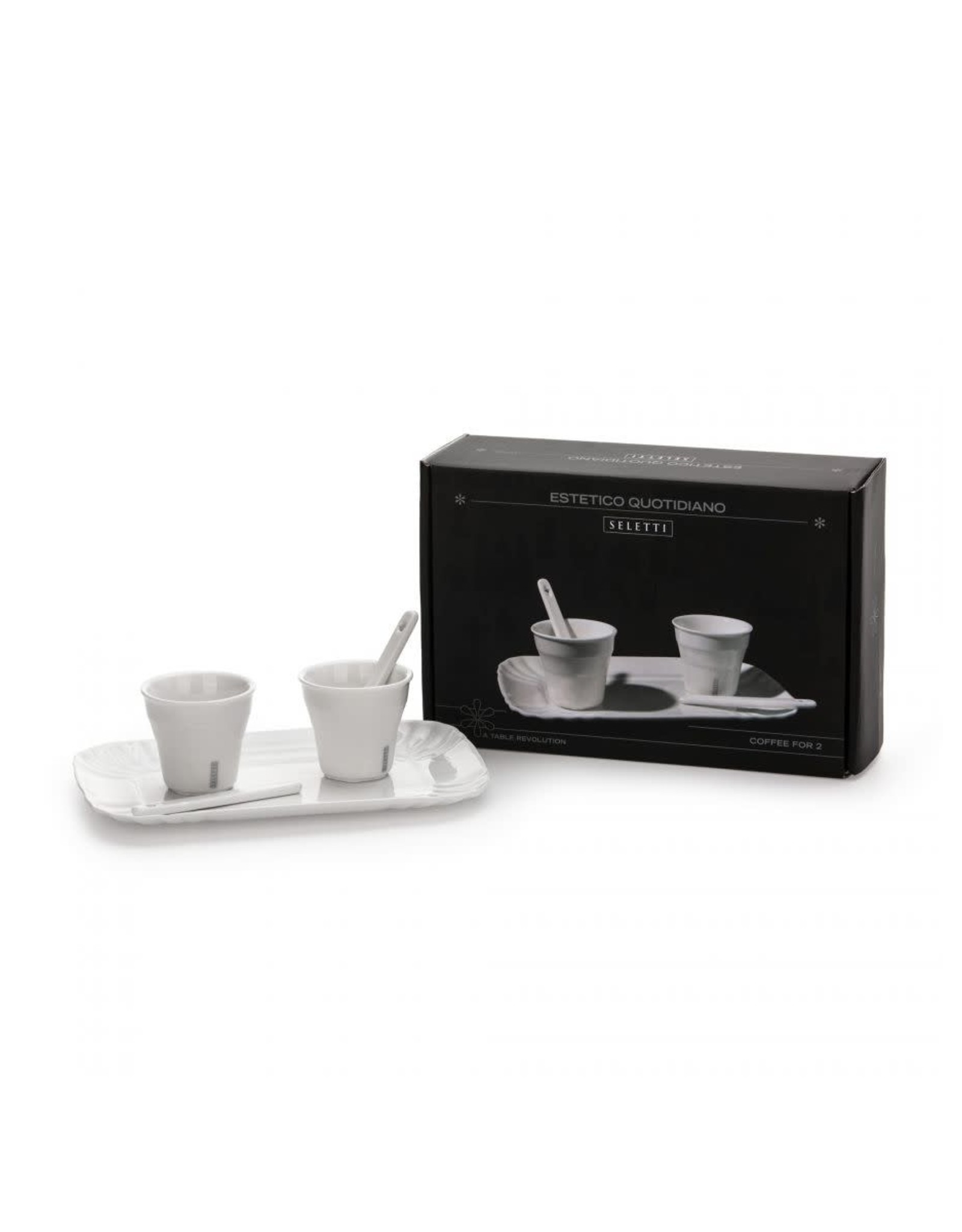 Seletti Estetico Quotidiano Coffee Set 2 Cups + 1 Tray