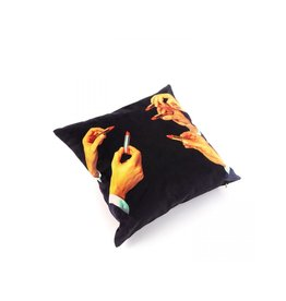 Seletti Cushion Lipstick Black