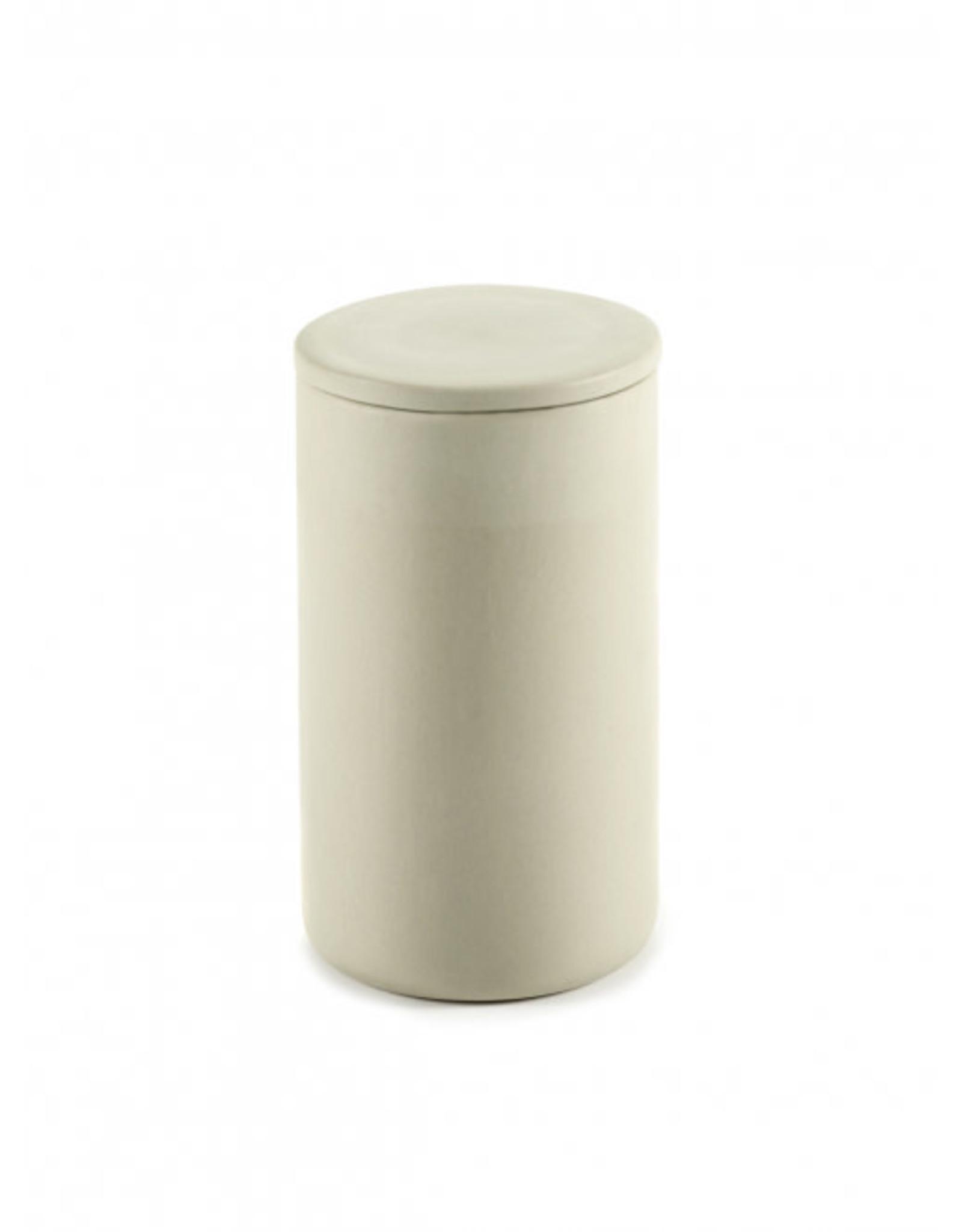 Serax NV Potje met deksel rond Cose L L7xB7xH12,6cm Beige