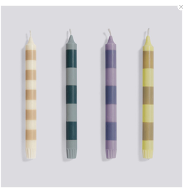 HAY Stripe Candle set of 4 Douce