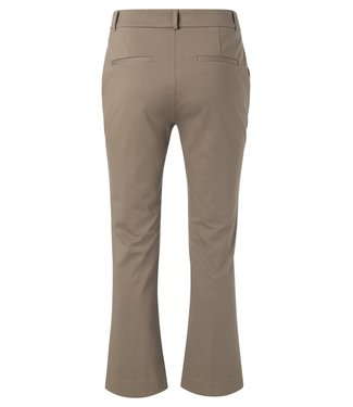 YAYA 121163 7/8 KICK FLARE TROUSER  CHOCOLATE