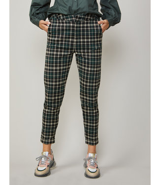 Summum Woman 4S2021-30179  TROUSERS TAPERED SPARCLE PLAID