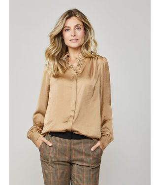 Summum Woman 2S2457-11234  BLOUSE SILKY TOUCH CHESTNUT