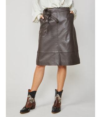 Summum Woman 6S1168-11268  SKIRT LEATHER BELTED