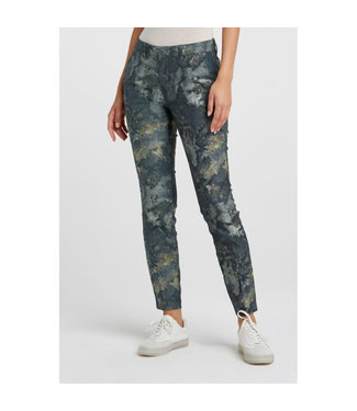 YAYA 1201193  COTTON BLEND TROUSERS WITH PRINT