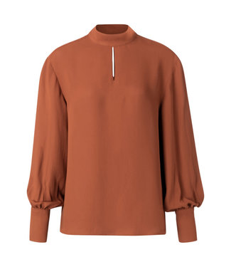 YAYA 1901307  TOP WITH PUFF SLEEVES AND OPEN DETAILS