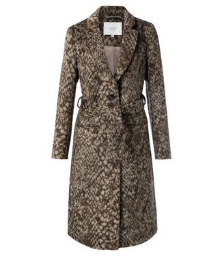 YAYA 161146  WOOLBLEND TAILORED COAT WITH SNAKE PRINT