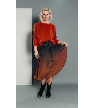 Poools 033139  SKIRT OMBRE BRIGHT RUST
