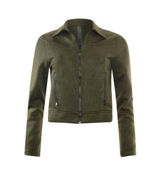 Poools 033194 Jacket biker olive knight