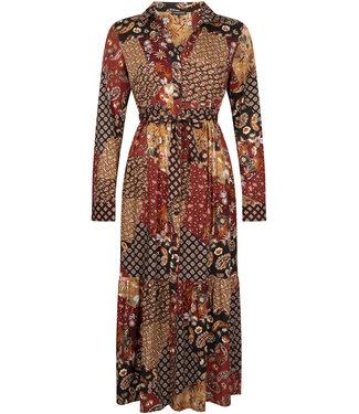 Tramontana E06-96-501  DRESS PATCHWORK PRINT