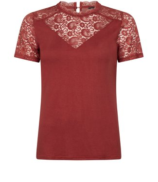 Tramontana C18-96-401  TOP PAISLEY LACE MIX STONE RED