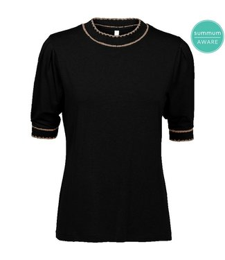 Summum Woman 3S4467-30166  TOP SS SCALLOPED BLACK
