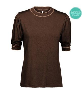 Summum Woman 3S4467-30166  TOP SS SCALLOPED CHOCOLATE