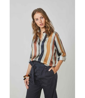 Summum Woman 2s2581-11359 Blouse printed stripe Multicolour