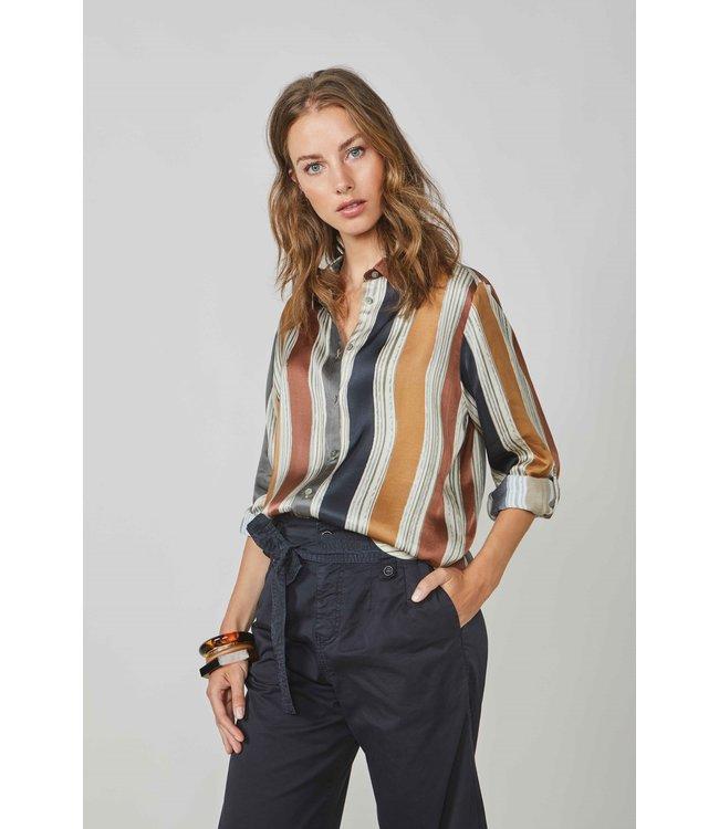 Summum Woman 2s2581-11359 Blouse printed stripe Multicolour